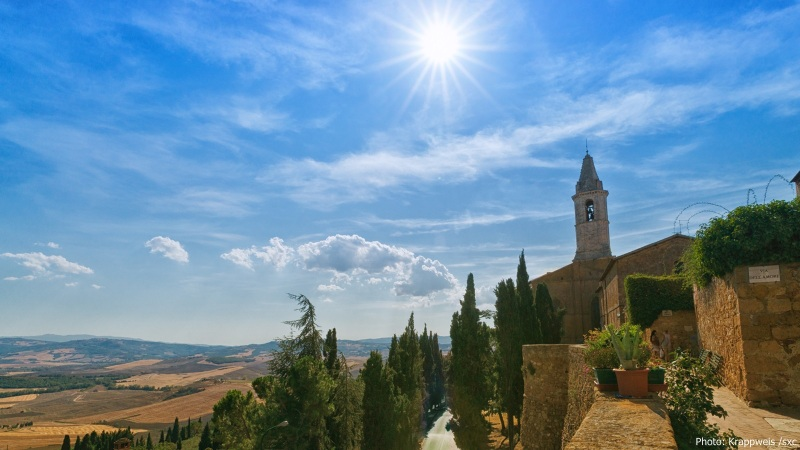 Pienza - View from City Wall
